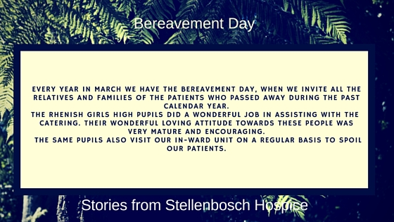 Rhenish Girls voluntering at Stellenbsoch Hospice