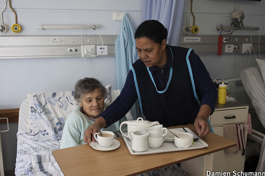 In the hospice